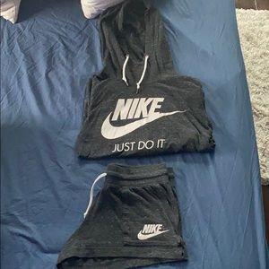Nike Hoodie & Shorts Set